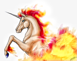 Rapidash --FireReborn-- by WhiteSpiritWolf