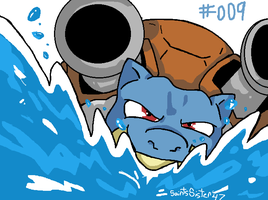 #009 Blastoise by SaintsSister47