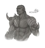Doomfist Sketch by MCAshe