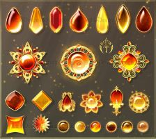 Gems 8 - Colours of Autumn (downloadable stock) by Rittik-Designs