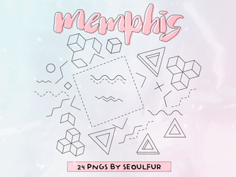 Memphis Png Pack #2 by seoulfur