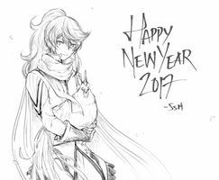 Happy New Year 2017 by SenlitheringMe