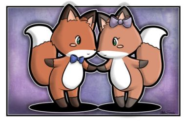 Commission: Boy and girl fox by melissah84