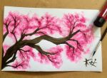 Sakura Tree Branch by ReoAkamine