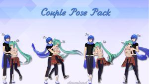 MMD Download {Couple Pose Pack} by Devikl