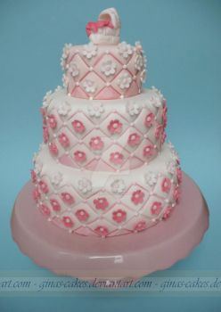 Baby Shower Cake by ginas-cakes