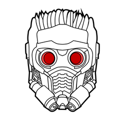 Star Lord Outline artwork by spenelo