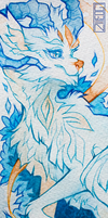 bookmark - blue yellow dragon by gowen-production