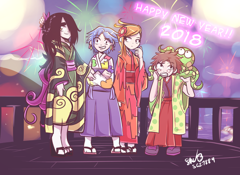 HAPPY NEW YEAR 2018 by SG27889