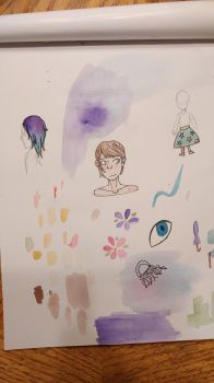 Watercolor doodles I guess by Glacilynn