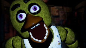 C4D|Remake|Chica Jumpscare by YinyangGio1987