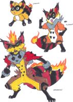 Fakemon- Fire Starters by TheZombieHunter