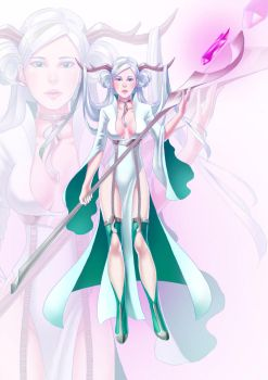 Fantasy forest lady commish by meteoric-iron