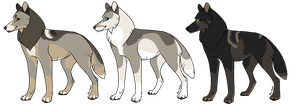 Wolf Adopts [CLOSED] by RibbonWren-Adopts