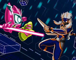 Mighty Creator VRX vs Hurricane Ninja by DarkTidalWave