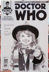 Dr. Who Sketch Cover comic book