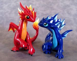 Fire and Water at Play by DragonsAndBeasties