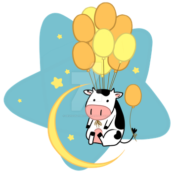 Cow Flies Over the Moon by DeviouslyMoo