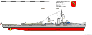 Light Cruiser Karlsruhe (1932) by DG-Alpha