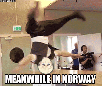 Hetalia GIF: Meanwhile in Norway by DaGlaceonGal