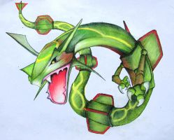 Rayquaza by himanshu-kapoor