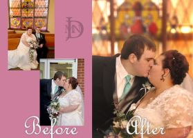 The Kiss - Before and After by DJMadameNoir