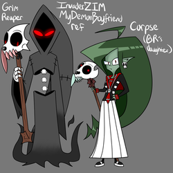 IZ MDB HC: Grim Reaper and his daughter Corpse ref by Glitched-Irken