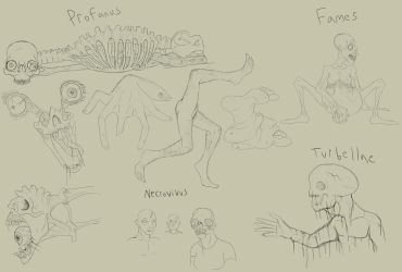 XC Concept Art: Zombies by Troodontidae