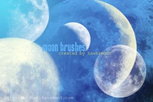 Moon Brushes by hawksmont