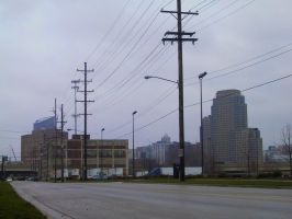 Grand Rapids Skyline - 1 by prophetgoth