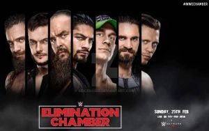 WWE Elimination Chamber 2018 Wallpaper  by SidCena555