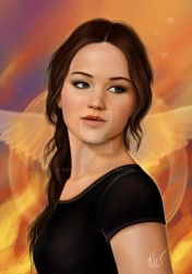 Katniss Everdeen by mayan-art