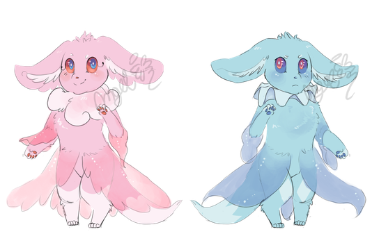point adopts -CLOSED- Eevee/Frillish by FloofAngel