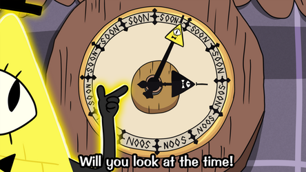 Bill Cipher Soon O' Clock by luckettx