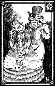 Owl and Puss Masquerade Ball by felixxkatt