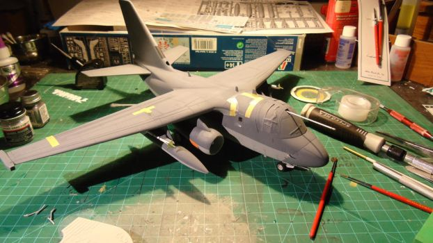 1/48 Scale S-3GC Viking Progress (engines) by Coffeebean2