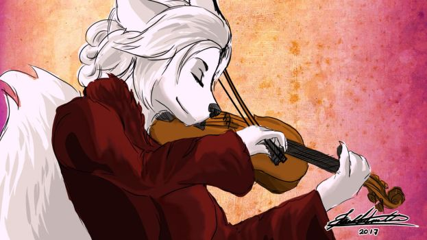 Violinist by Kathe-Fox