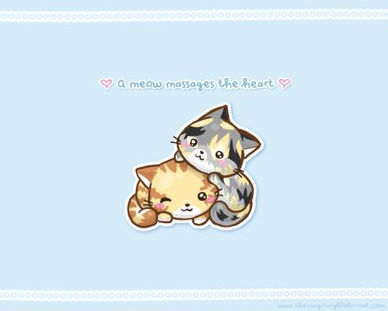 Two Kittens Wallpaper by PeterPan-Syndrome