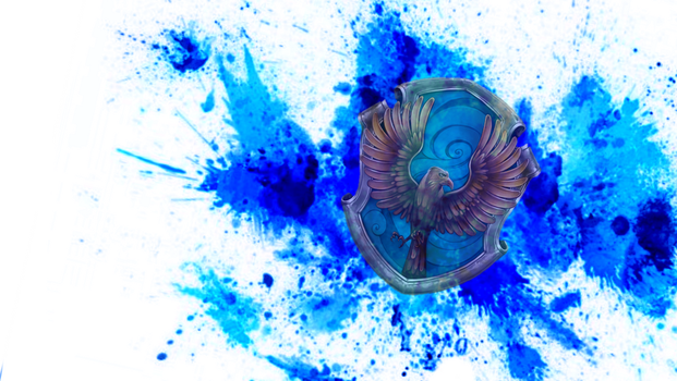 Ravenclaw paint splatter by unicornrhi