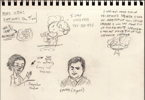 SCBWI Sketch Diaries p5 by kevinbolk