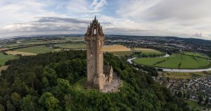 Sky High at the Wallace Monument by BusterBrownBB