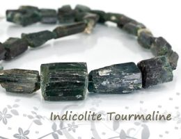 Indicolite Tourmaline Beads by BeadsofCambay