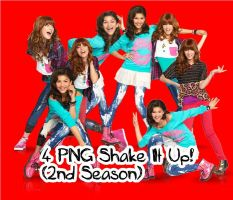 4 PNG PACK Shake It Up by vannessamorgan