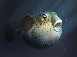 puffer fish by GaudiBuendia