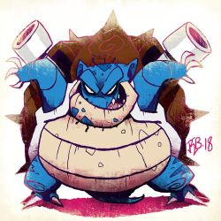 #009 Blastoise by Skelizard