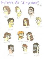 Some ppl I know as Simpsons by Daryl-the-cartoonist