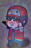 Glitchy Red Needs A Hug. by Onslaught14