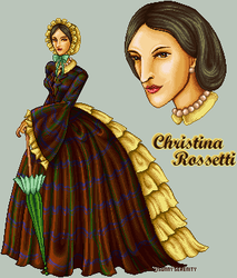 Christina Rossetti by FallenSunrise