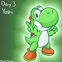 Smashvember Day 3: Yoshi by thegamingdrawer