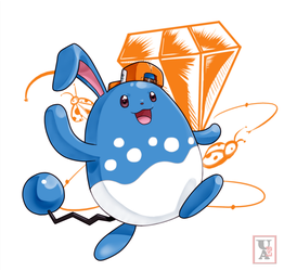 Commission .: Azumarill :. by Icandoittoo